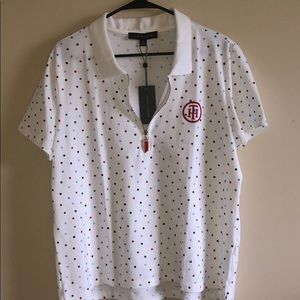 Tommy Hilfiger Heritage Polo White w/Color Dots